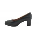 Zapato salón piel cómodo negro