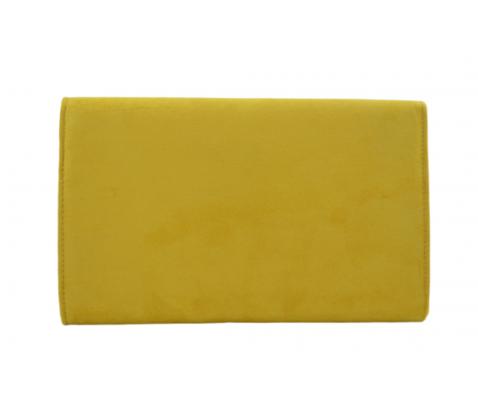 Bolso fiesta ante solapa pico amarillo