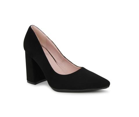 Zapato de salón tacón ancho negro