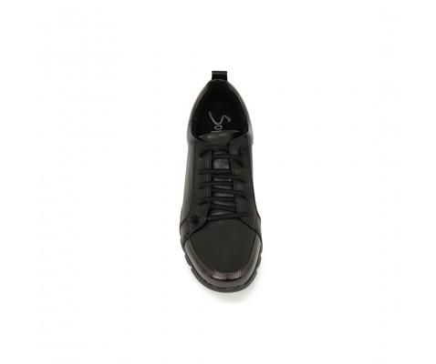 Zapatilla deportiva cómoda texturizada plomo
