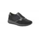 Zapatilla deportiva plantilla comfort negra