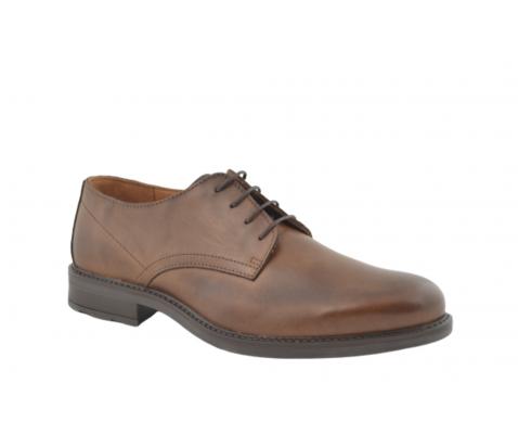 Zapato oxford de vestir piel castaño-marrón