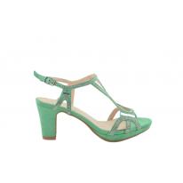 Sandalia fiesta brillos verde