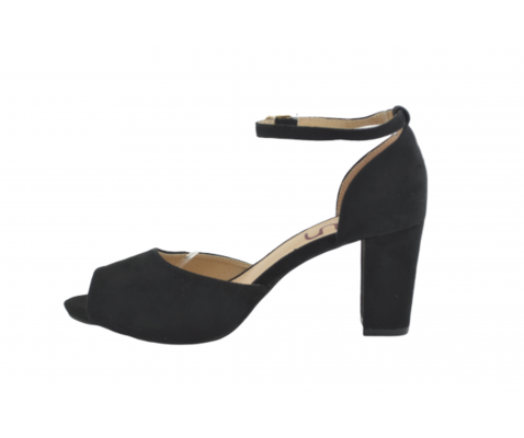 Sandalia fiesta atada tobillo negra