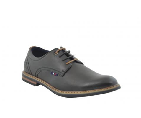 Zapato oxford piso combinado camel-negro