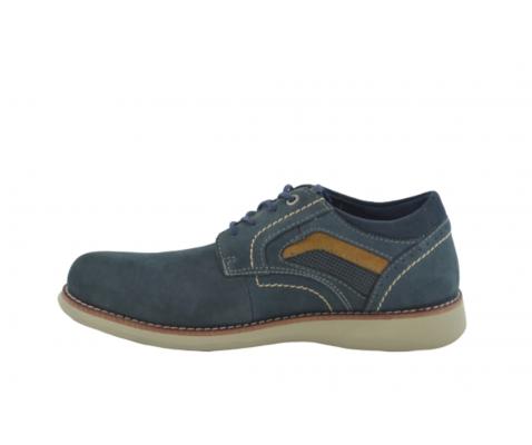 Zapato casual piel piso blanco marino