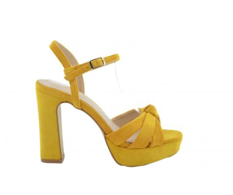 Sandalia fiesta moña amarilla