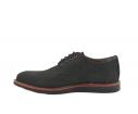 Zapatos casual piel cordones lunares negro
