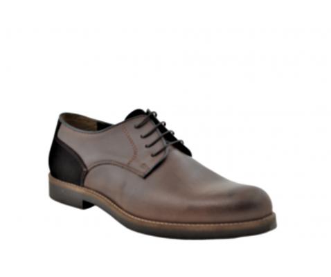 Zapato oxford vestir piel castaño