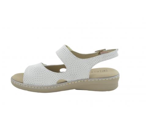 Sandalia cómoda piel Pitillos 6000 plata - Pitillos