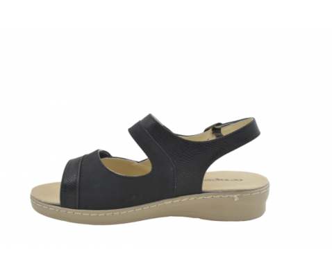Sandalia cuña cómoda negro