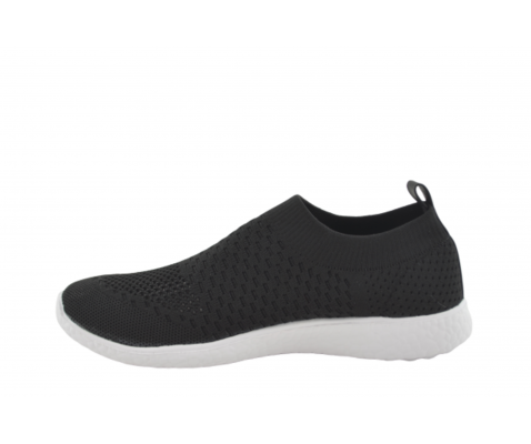 Zapatilla deportiva calcetin negro