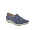 Zapato confort troquelado marino