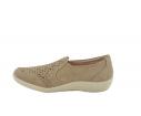 Zapato confort troquelado taupe