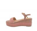 Sandalia plataforma yute rosa