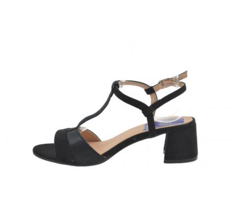 Sandalia tacón ancho negro