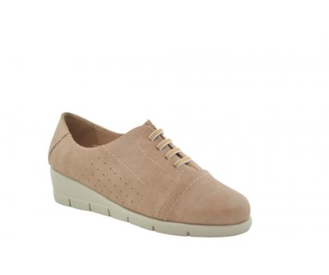 Zapato cordones elásticos cómodo arena