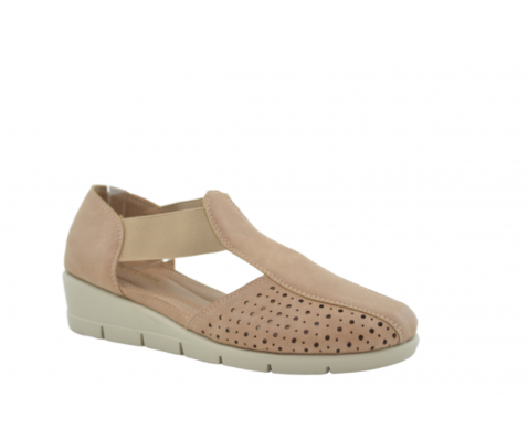 Zapato cómodo elásticos laterales arena