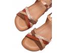Sandalia plana piso bio cuero rose - Porronet