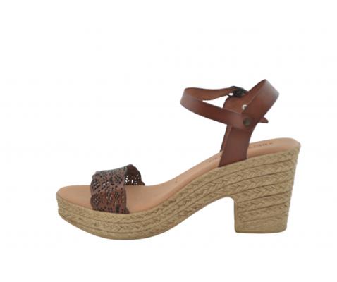 Sandalia tacón Cibeles cuero