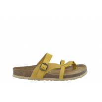 Sandalia Alba piel mostaza
