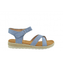 Sandalia plana velcro jeans