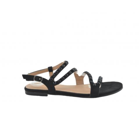 Sandalia tachuela brillo negro