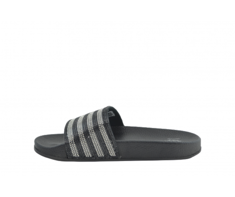 Sandalia brillos pala negra