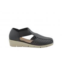 Zapato cómodo elásticos laterales marino