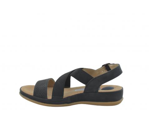 Sandalia cómoda tiras elásticas negra