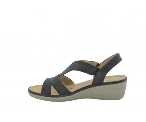 Sandalia tiras elásticas negro