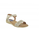 Sandalia confort perforados beige