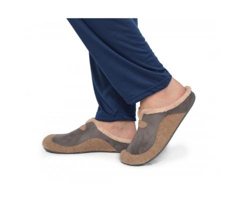 Zapatillas de estar por casa abierta gris