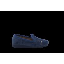 Zapatillas para el hogar azul marino cerradas puntos