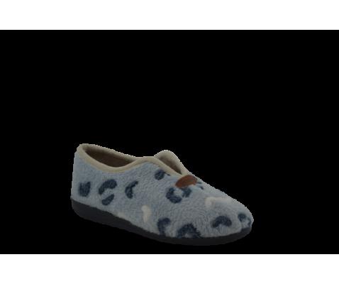 Zapatillas de estar por casa esquimal marino gris