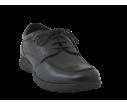 Zapato piel cómodo cordones negro