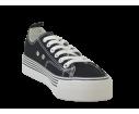 Zapatilla  XTI deportiva plataforma negro