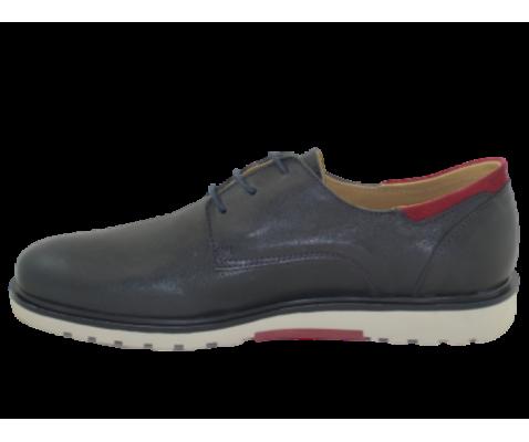 Zapato piel de vestir marino