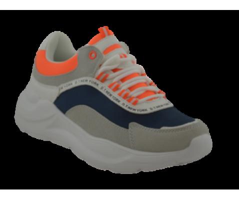 Zapatilla deportivas cordones naranja