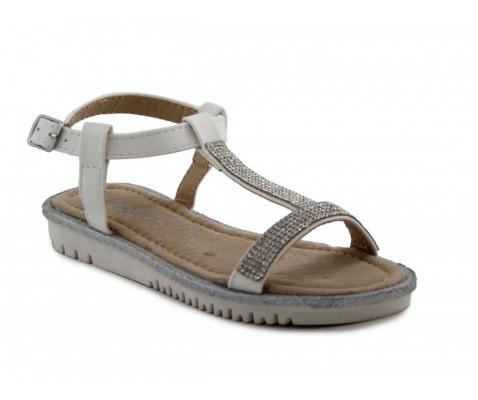 Sandalia plana niña blanca - Benavente