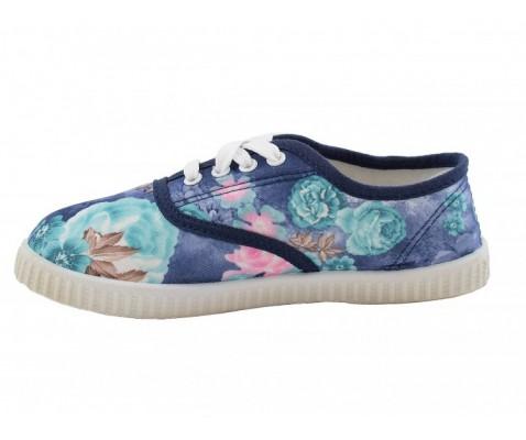 Zapatilla de lona estampados florales niña - Benavente
