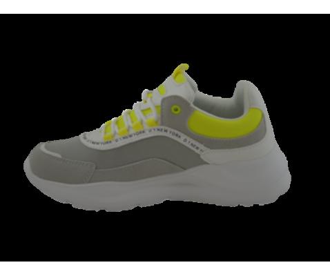 Zapatilla deportiva cordones amarilla