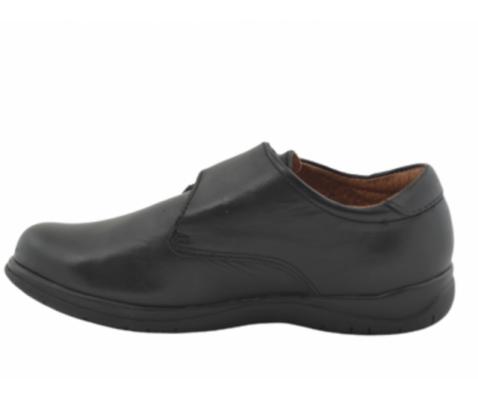 Zapato escolar velcro cerrado negro niño