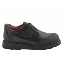 Zapato escolar velcro puntera reforzada negro niña/o