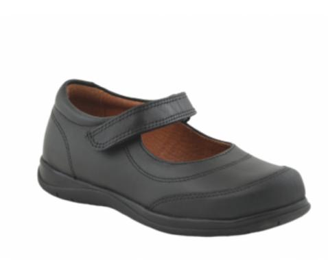 Zapato escolar velcro negro niño