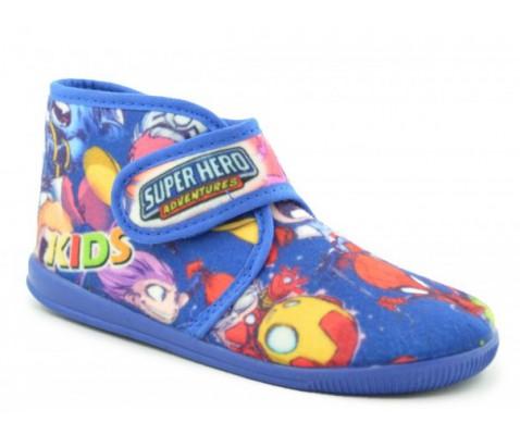 Zapatillas de estar por casa niño Super Hero azul