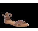 Sandalia cruzada tobillo caoba