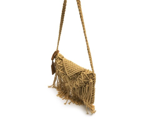 BOLSO KNOT COTTON CAMEL MUSTANG