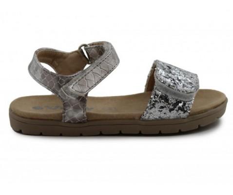 Sandalia plana niño plata - Benavente