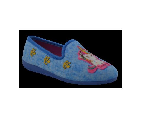 Zapatillas de casa azulon unicornio
